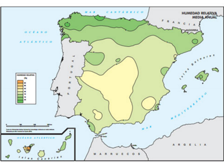 Mapa evaporativos
